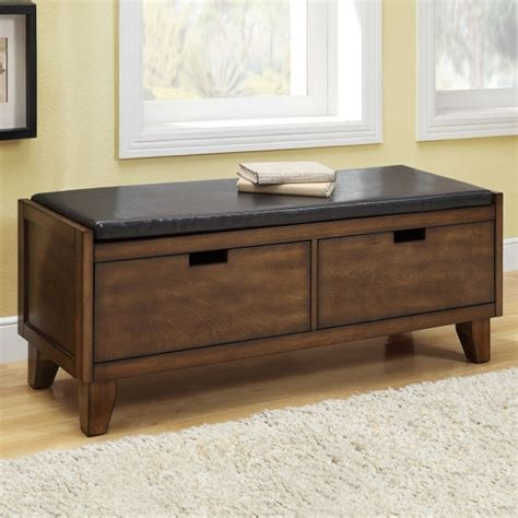 wooden storage bench seat indoors stylish furniture indoor wood bench with storage space walnut indoor small bench seat