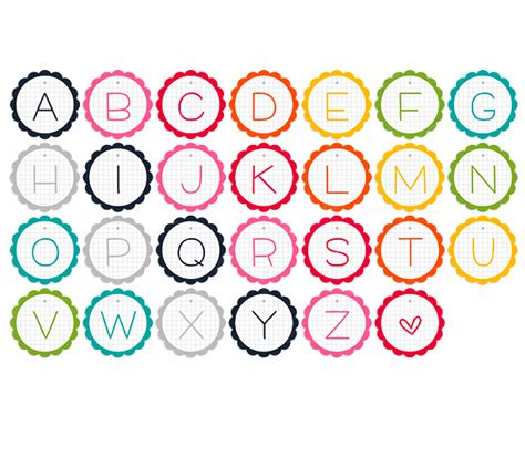 printable alphabet garland alphabet garland printable printable decor