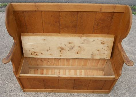 pine bench seat with storage pine hall settle bench storage seat