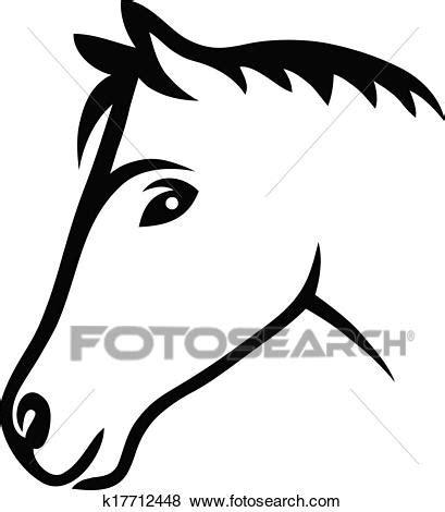 cavallo clipart clip faccia cavallo k17712448 cerca clipart