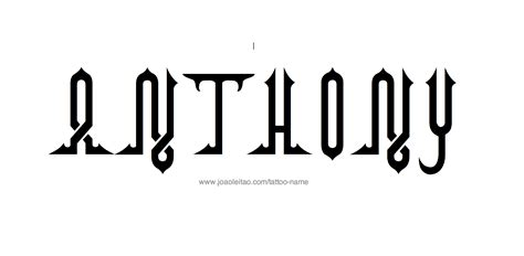 anthony tattoo designs similiar anthony name for the letters keywords