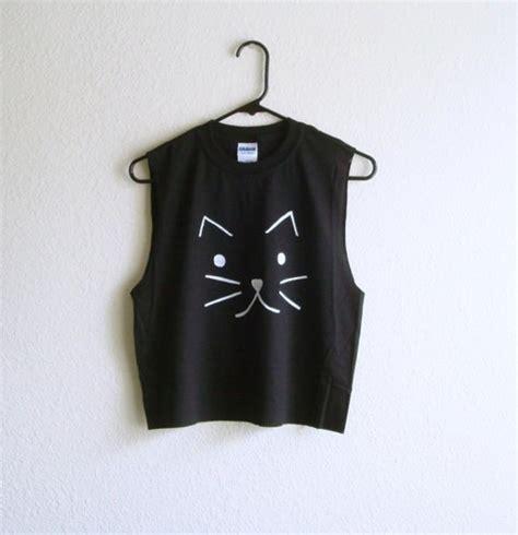Adorable Shirts Shirt Black Tank Top Cats Cats