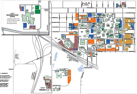 map of university of texas unt parking map my