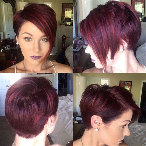 highlight a pixie cut red pixie with highlights shorthair redhair pixie