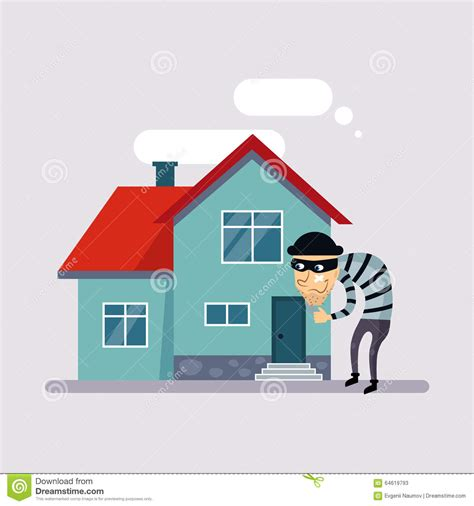 house theft insurance theft insurance vector stock vector image 64619793