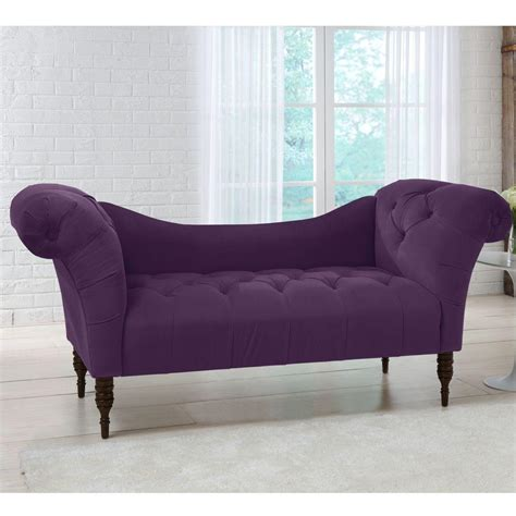 Velvet Chaise Lounge Home Decorators Collection Aubergine Velvet Tufted Chaise Lounge 6006vaub The Home Depot