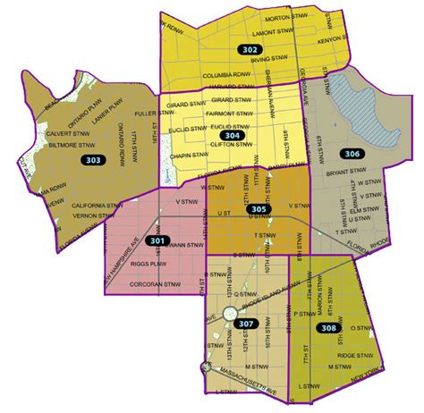 washington dc precinct map welcome to the third district mpdc