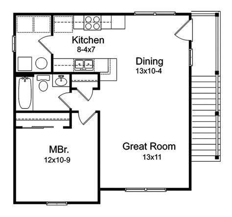 apartment garage floor plans plan w2225sl one story garage apartment e architectural design garage apartments floor plans