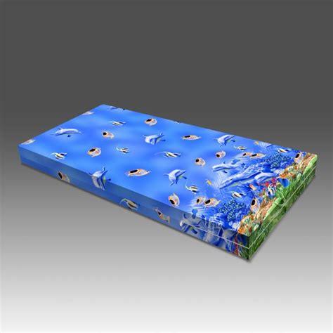 Rivest Sarung Kasur 140 X 200 X 15 rivest sarung kasur busa tinggi 15 cm motif lumba lumba naturalbalmut