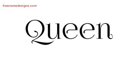tattoo with the name queen queen archives free name designs