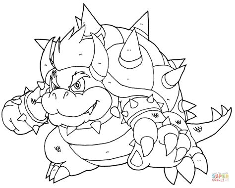 bowser coloring page free printable coloring pages