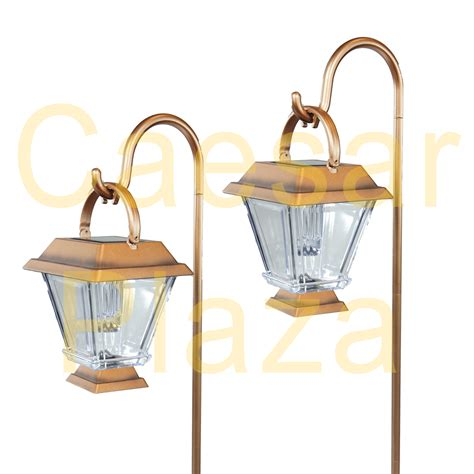 copper solar path lights 6 outdoor brass copper color 2 led solar hanging
