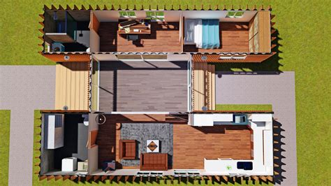 sch15 2 x 40ft container home plan with breezeway eco