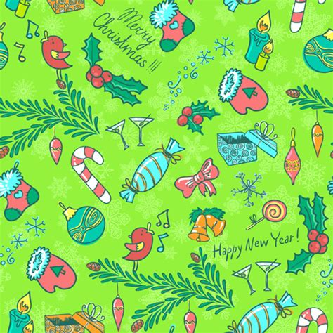 cute holiday pattern cute christmas seamless pattern vector free vector in