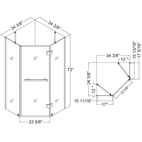 Shower Door Measurements Dreamline Prism X Shower Enclosure