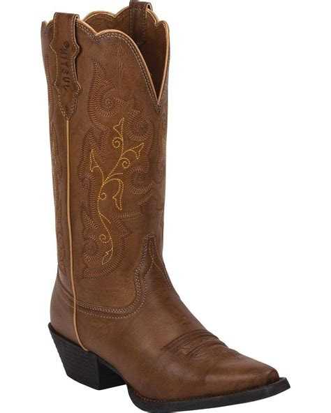 boots farm and ranch justin s burnished farm and ranch boot snip