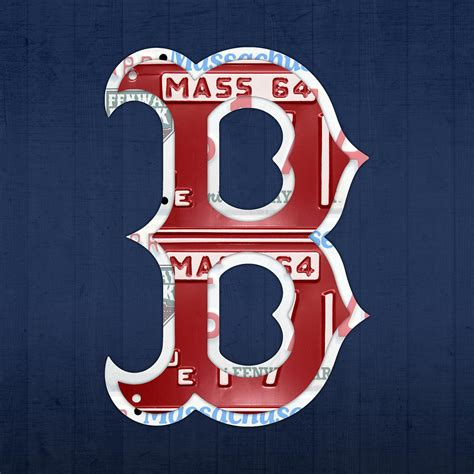 Boston Red Sox Home Decor by Boston Red Sox Logo Letter B Baseball Team Vintage License