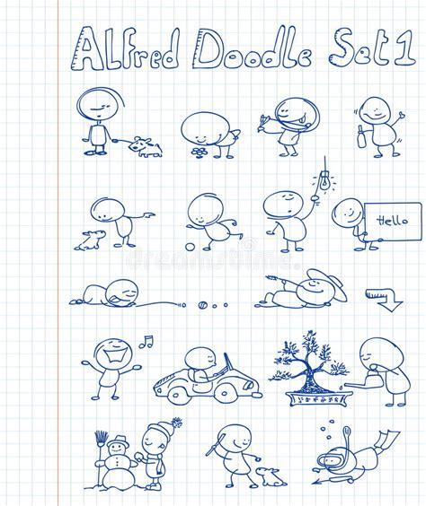 alfred doodle vector free alfred doodle set 1 stock vector illustration of diving