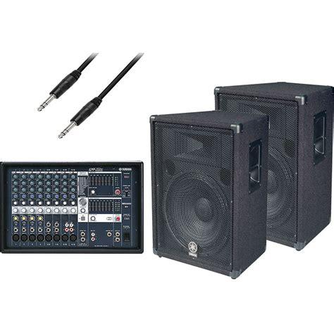 yamaha emx 312sc powered mixer speaker bundle b h photo