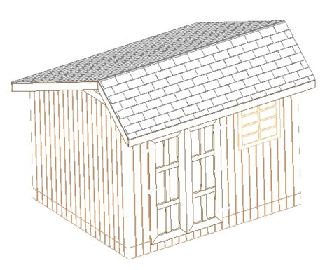 12x20 Storage Shed Plans by Shed Plans On Cd Goehs
