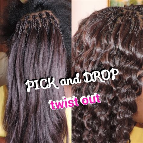 what is pick and drop hair how to pick and drop twist out with xpression