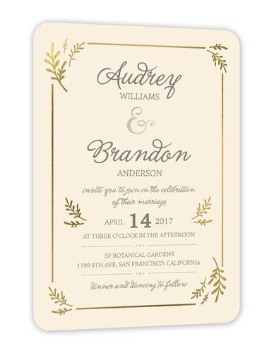 Wedding Stationery Border by Botanical Border 5x7 Wedding Invitations Shutterfly