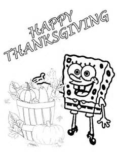 spongebob thanksgiving coloring pages spongebob harvest thanksgiving coloring page h amp m