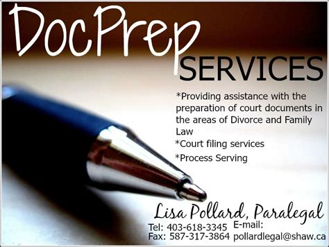 Divorce Document Preparation