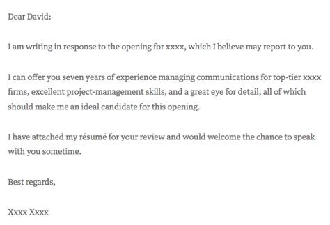 10 Cover Letter Templates To Perfect Your Next Job Application Breakthrough Email Template