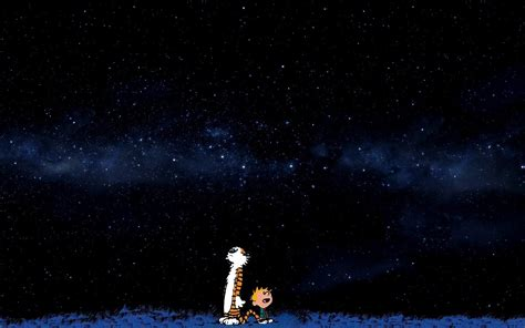 calvin and hobbes background space blue comics calvin and hobbes wallpapers