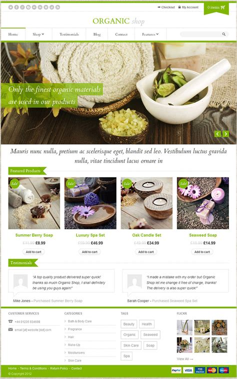 themeforest organic food organic shop wordpress theme by themeforest top