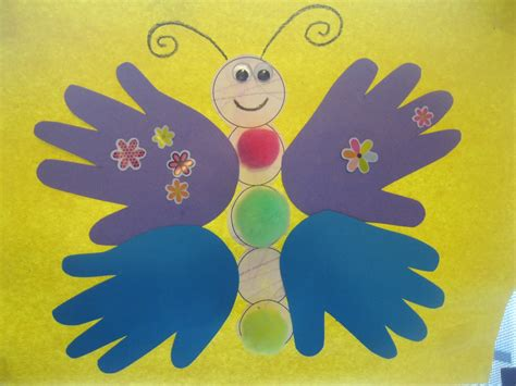 crafts to make with construction paper 8 best images of handprint butterfly template printable
