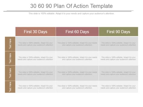 30 60 90 Day Plan Designs That Ll Help You Stay On Track The Slideteam Blog 30 60 90 Day Plan Presentation Template