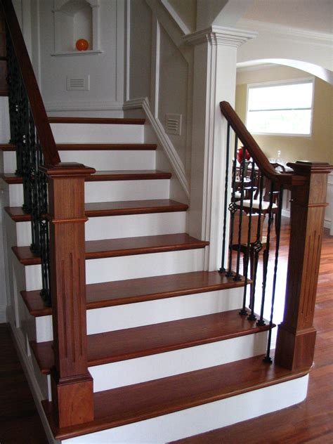 Banister Spindles Metal Brazilian Cherry Handrail Custom Made Posts Wrought Iron