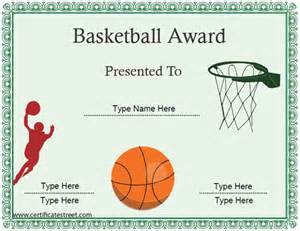 basketball award certificate template word free pdf psd format
