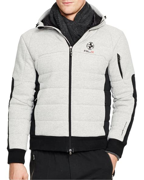 Vest Hoodie Zipper Polos Abu K21 ralph polo rlx zip fleece hoodie in gray for lyst
