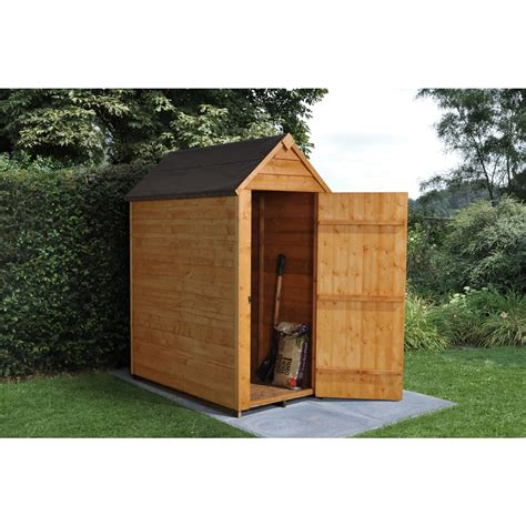 forest garden overlap apex garden shed 3 x 5 at wilko