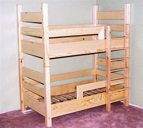 Crib Mattress Bunk Bed A Toddler Bunk Bed Uses Crib Mattresses This Idea For A Small Room Shared By