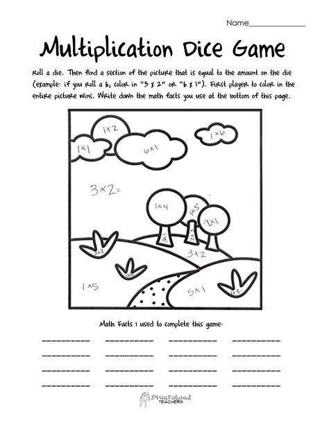 printable multiplication dice games multiplication squarehead teachers page 2
