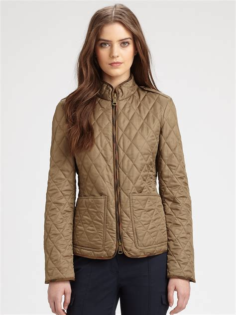Quilted Jacket Burberry by Burberry Brit Edgefield Quilted Jacket In Brown Lyst