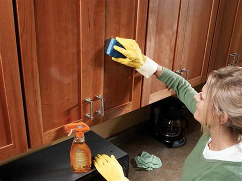 kitchen how to clean greasy wood cabinets reviews how to