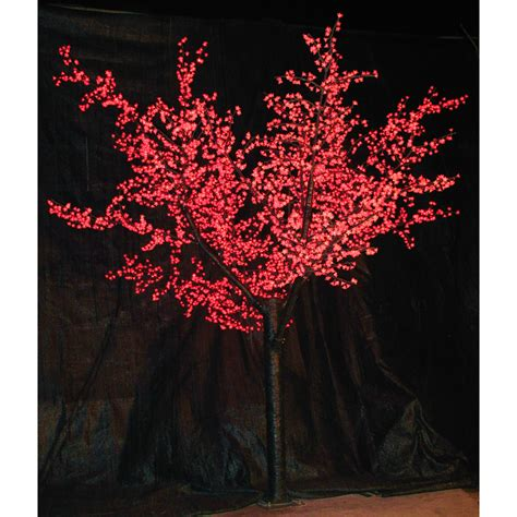 ft pre lit led cherry blossom tree red christmas