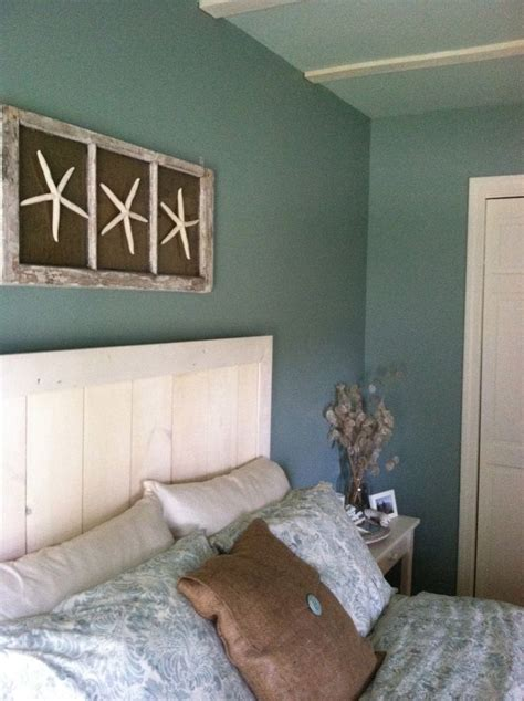 curtains for beach themed room custom headboard with wall art diy beach bedroom