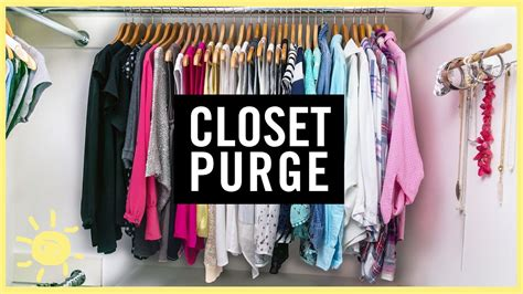 how to purge your closet organize 1 day closet purge youtube