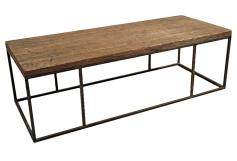 Steel Coffee Table Wood Plank Coffee Table With Steel Frame Omero Home