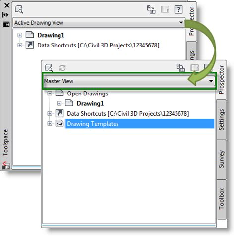 civil 3d templates access drawing templates in the toolspace autocad civil