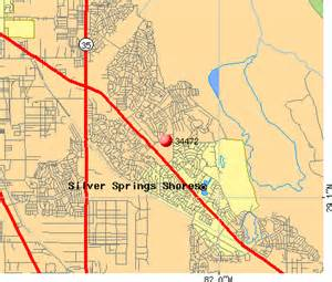 map of silver springs florida 34472 zip code silver springs shores florida profile
