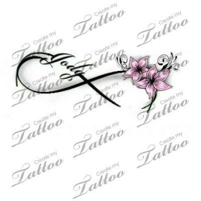 tattoo name creation infinity love tattoo flower 103891 createmytattoo com
