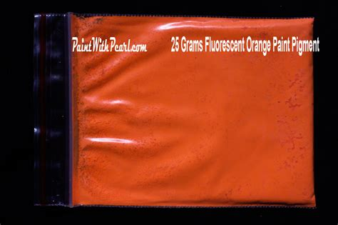 orange neon glow paint pigment color shift pearls