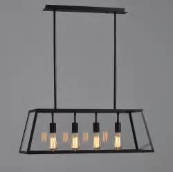 Industrial Dining Room Light Fixture Modern Vintage Industrial Black Dining Room 4 Heads Metal